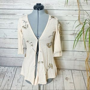 Anthropologie Knitted & Knotted open knit Cardigan
